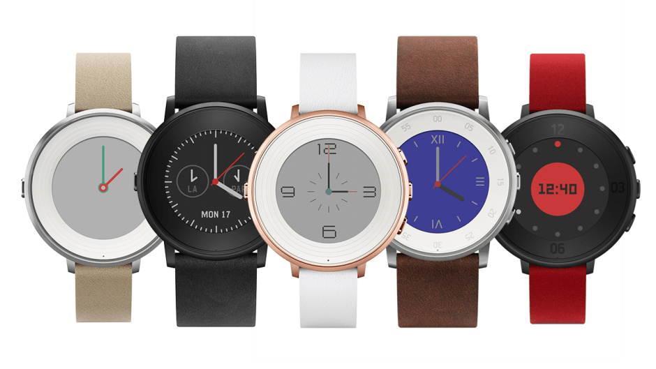 Pebble Time Round is the thinnest smartwatch so far. Photo: Pebble