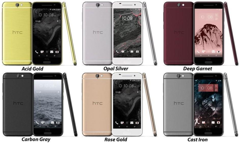One A9's six color options. Photo: Evan Blass
