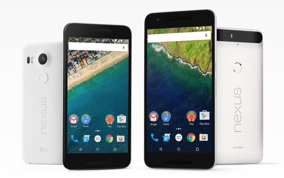 Google's new Nexus smartphones are available at a $50 discount. Photo: Google