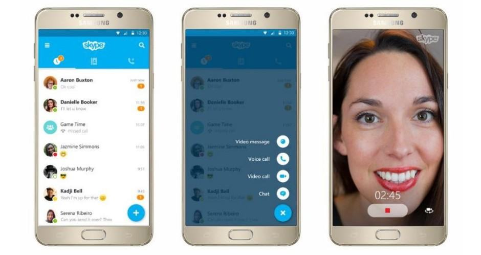 Skype's new look on Android. Photo: Skype