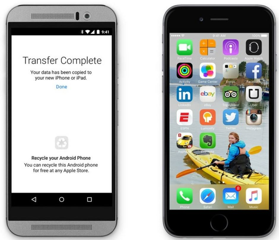 Move to iOS makes switching to iPhone easy. Photo: Apple