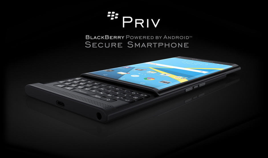 BlackBerry Priv is almost here. Photo: Carphone Warehouse