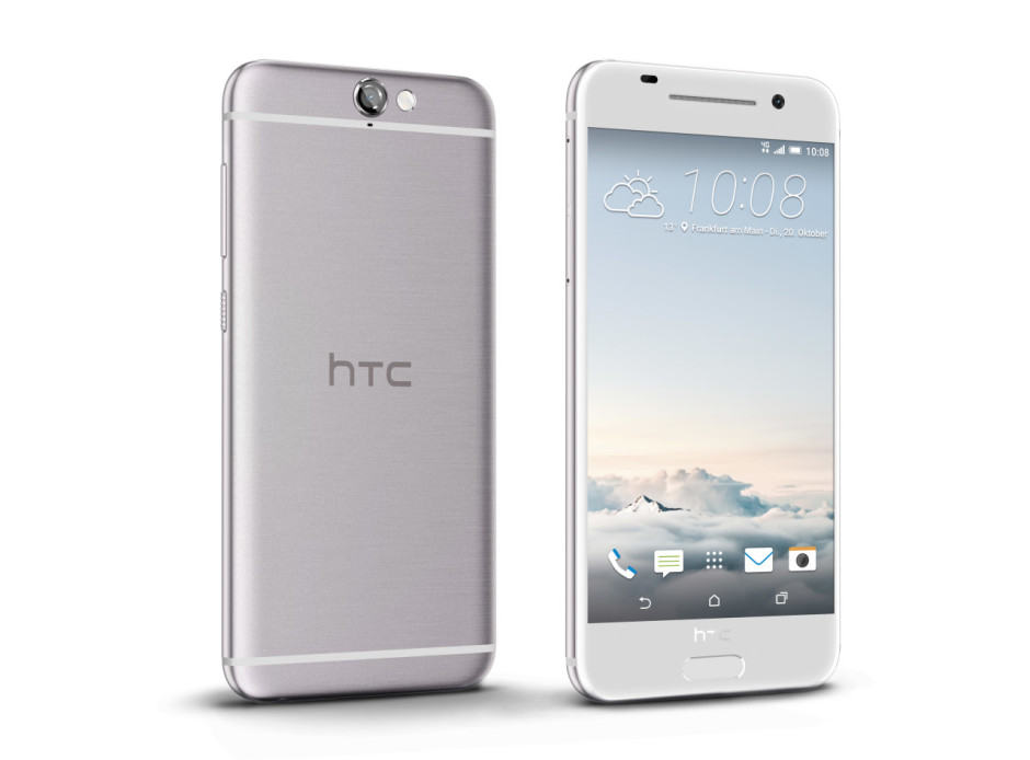 The One A9 comes in opal silver, carbon gray, garnet red, and topaz gold. Photo: HTC