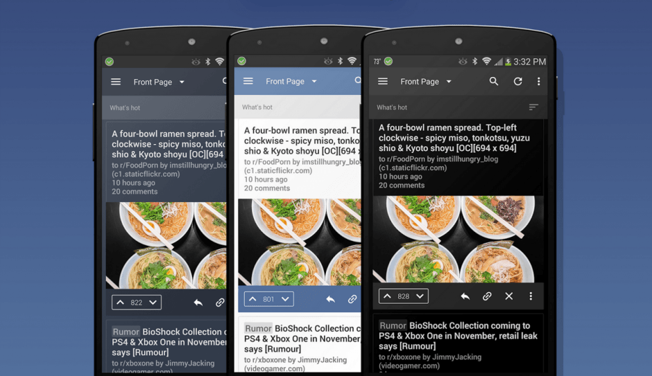 BaconReader looks better than ever in version 5.0. Screenshots: OneLouder Apps
