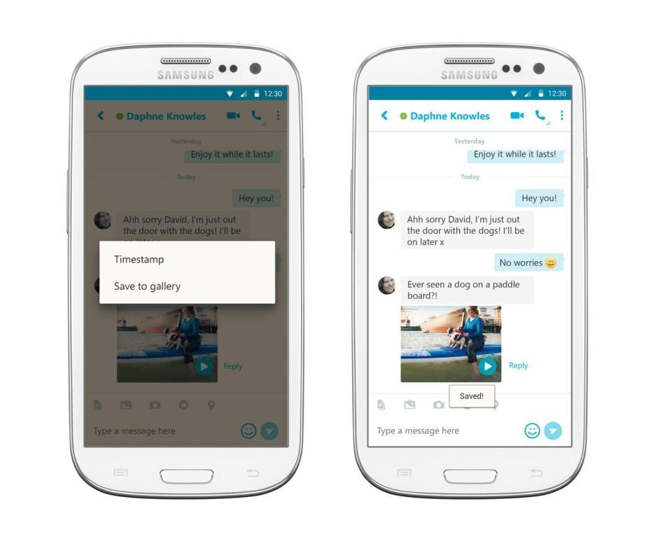 Saving videos is simple in Skype 6.11. Photo: Skype