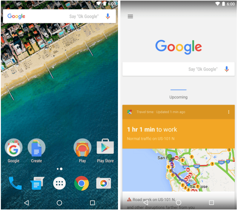 The Google Now Launcher is available to all. Screenshots: Google