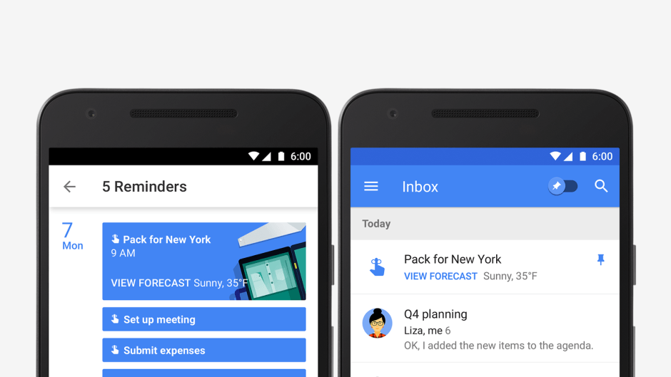 Reminders in Google Calendar. Photo: Google