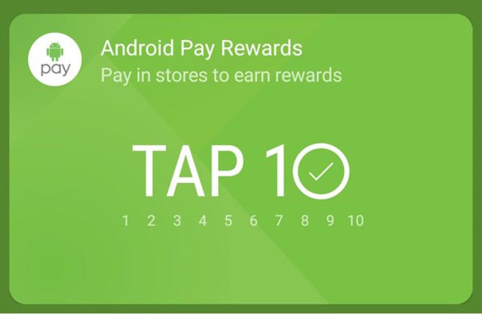 Android Pay rewards are here! Photo: Darrin Rich