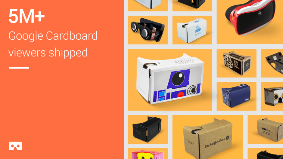 8b65b937bb3 Cult of Android - Google has shipped 5m Cardboard headsets