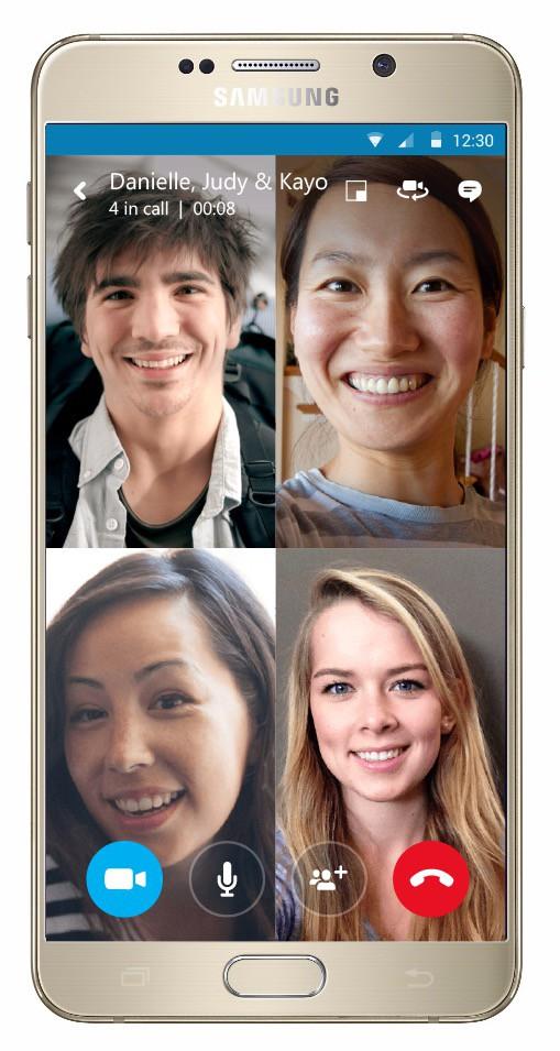 Group video on your smartphone - hoorah! Photo: Skype