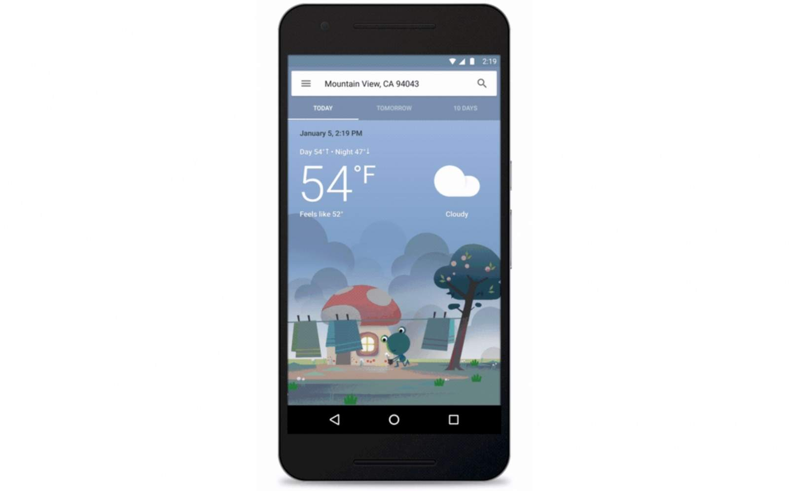 Google has redesigned the way we will see weather forecasts. Image: Google.