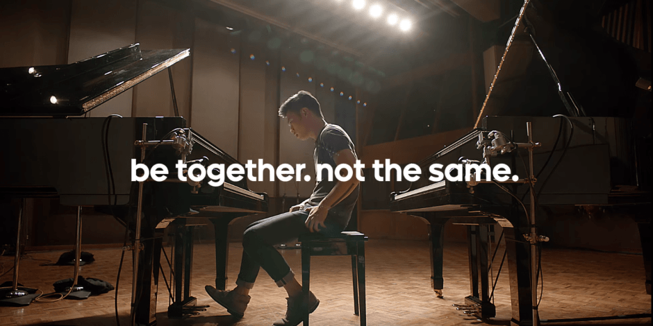 """""""Be together. Not the same."""" Photo: Google"""