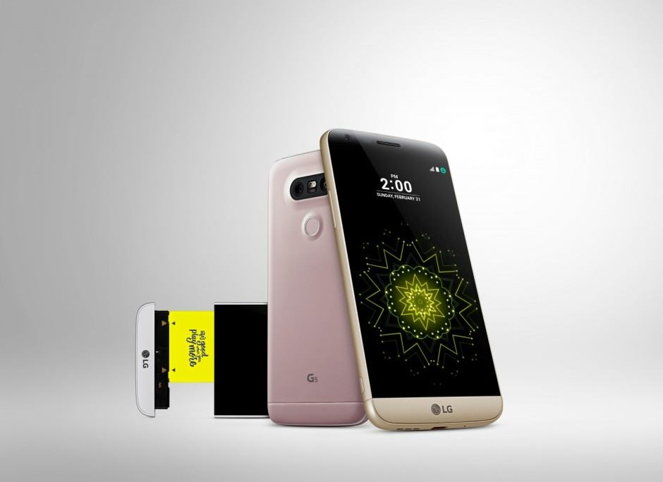 The LG G5 is pretty on the outside, exciting on the inside. Photo: LG