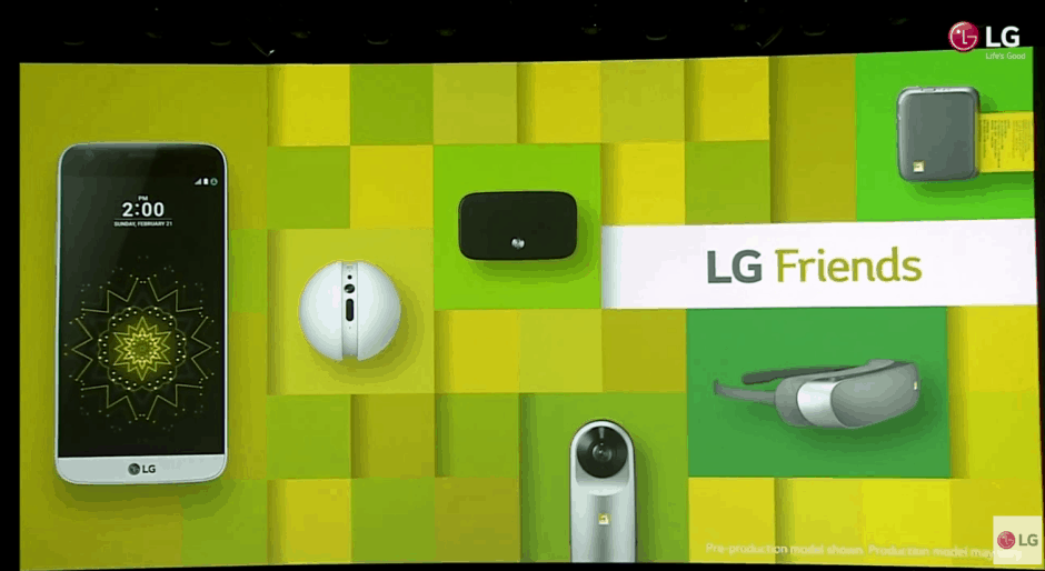 LG G5's 'Friends' add additional functionality. Photo: LG