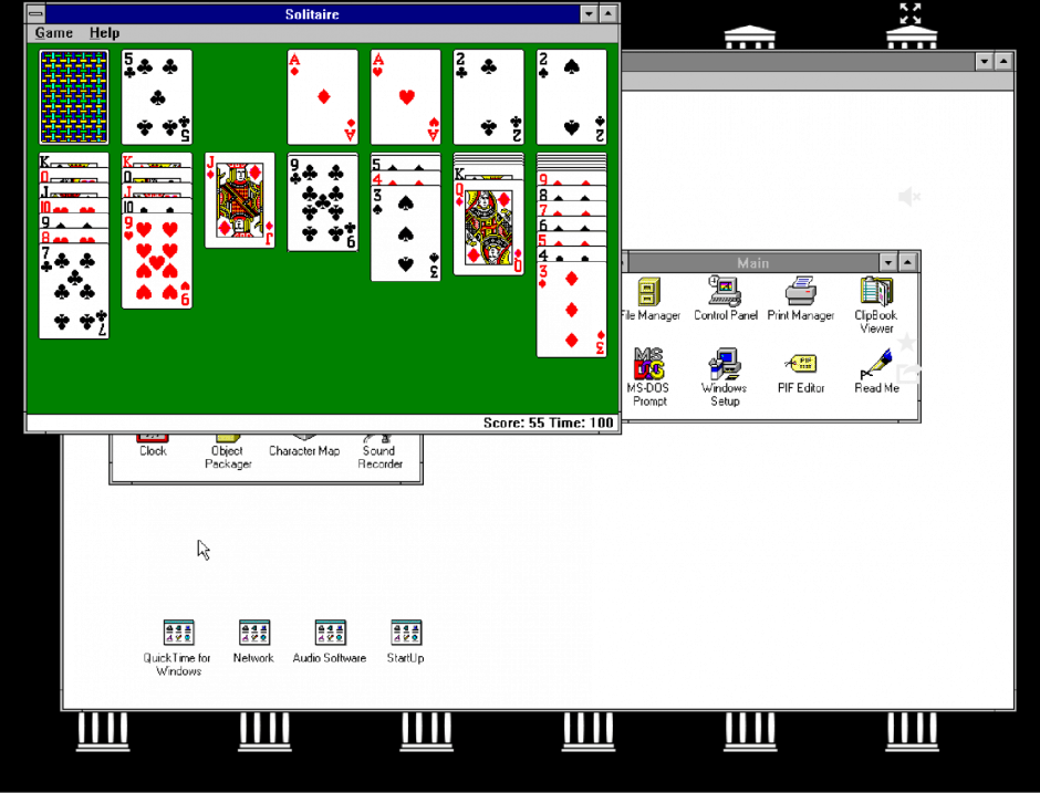 Windows 3.1 in Google Chrome. Screenshot: Cult of Android