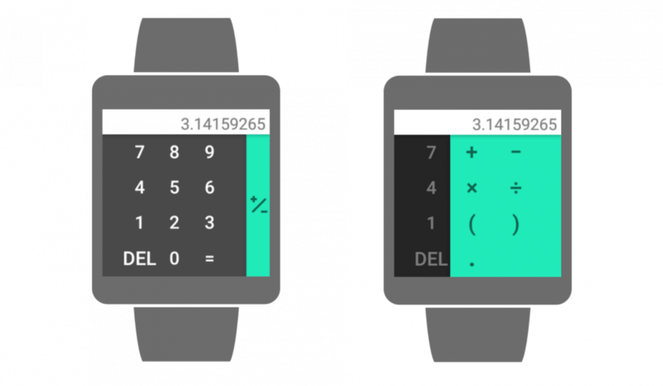 Google Calculator on your wrist. Photo: Google