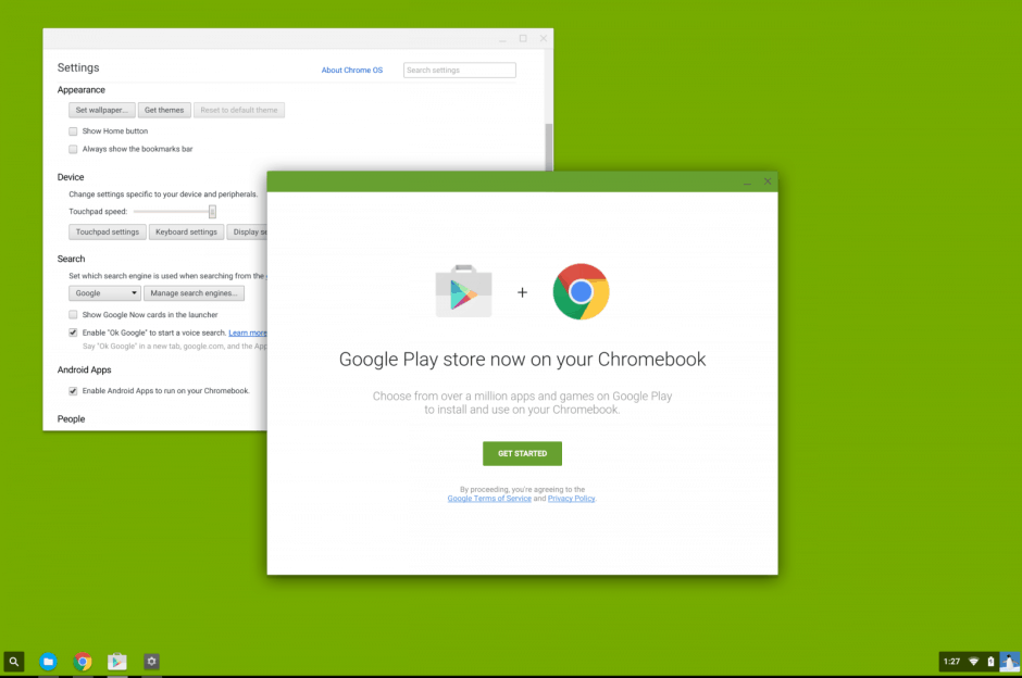 The Play Store in Chrome OS? Screenshot: Reddit