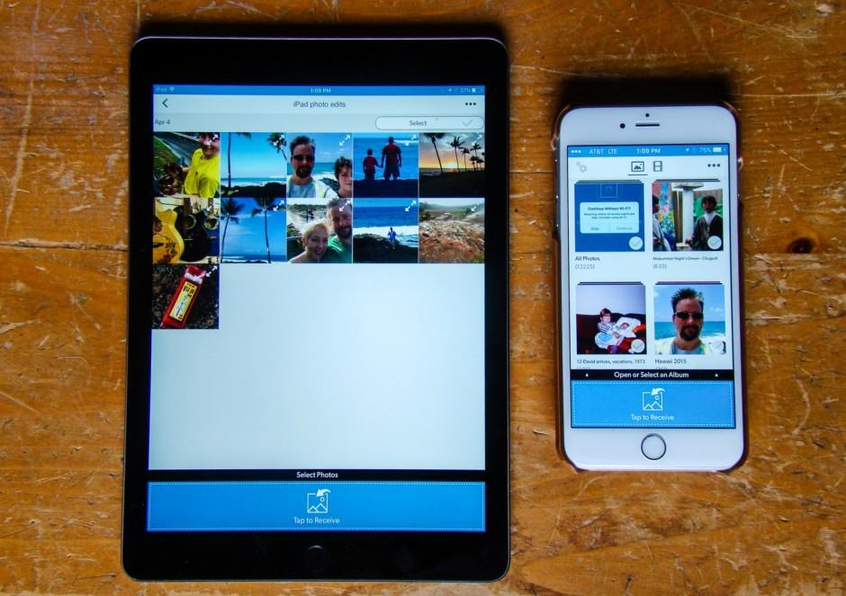 FotoSwipe makes sharing photos and videos super simple. Photo: Rob LeFebvre/Cult of Mac