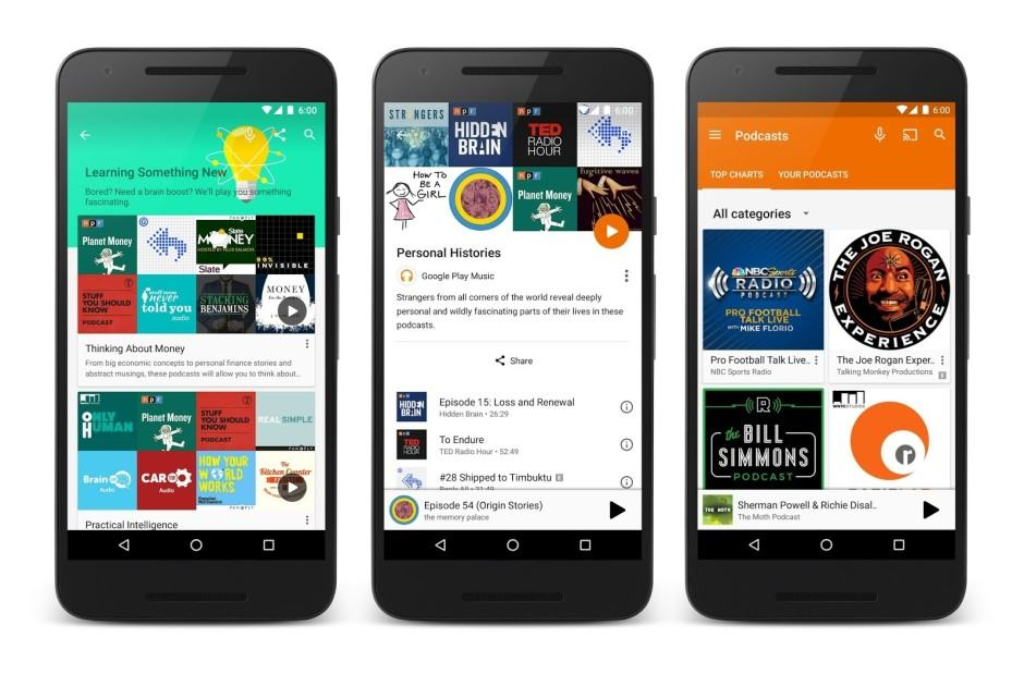 Podcasts have arrived! Photo: Google