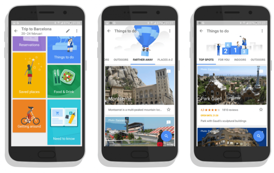 Google Trips on Android. Screenshots: AndroidWorld