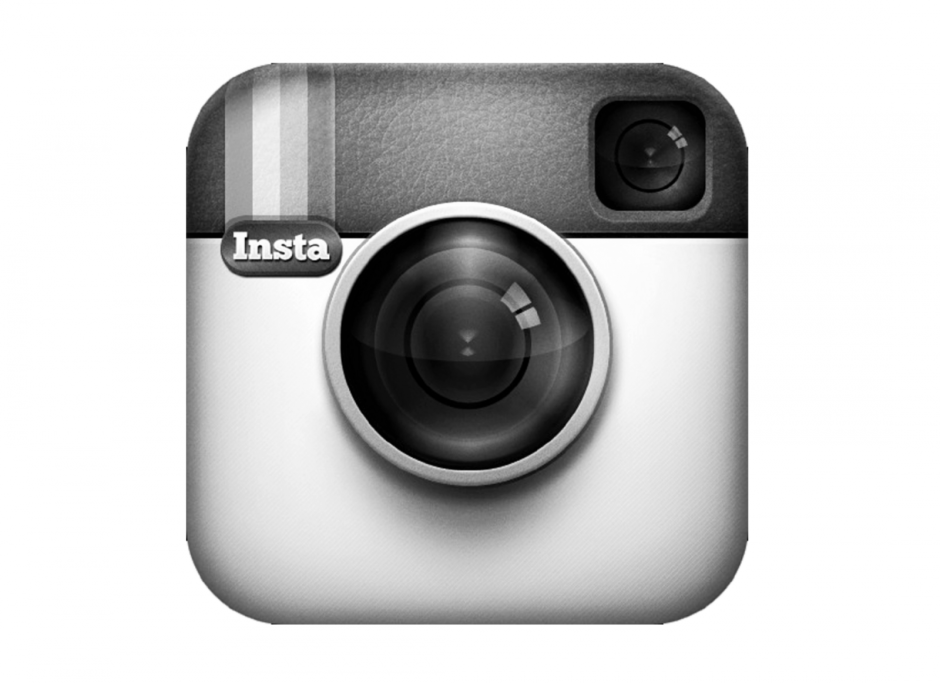 Instagram turns black and white. Logo: Instagram