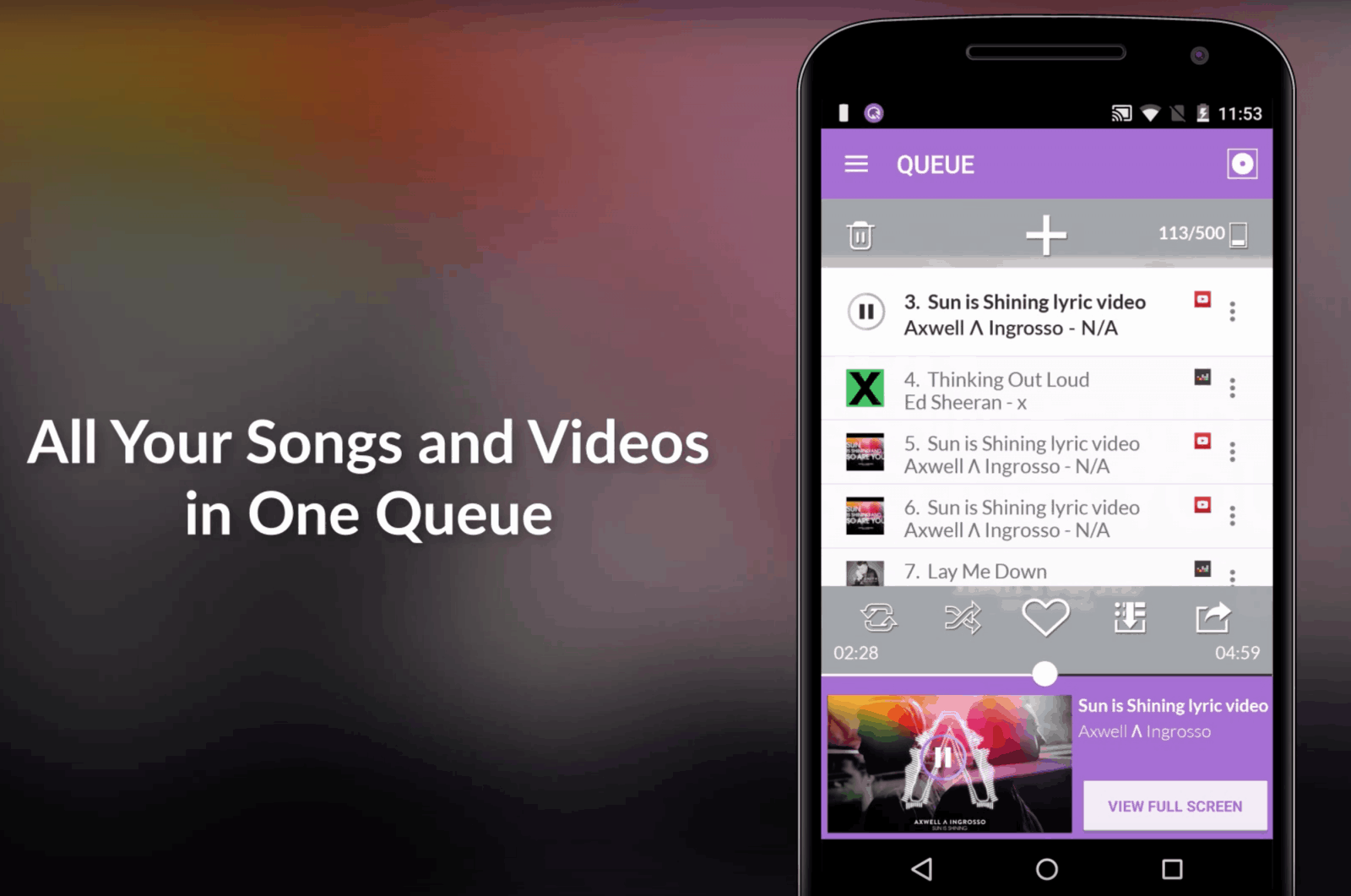 No matter where your music, Qus can play it. Within reason - Photo: Google Play Store